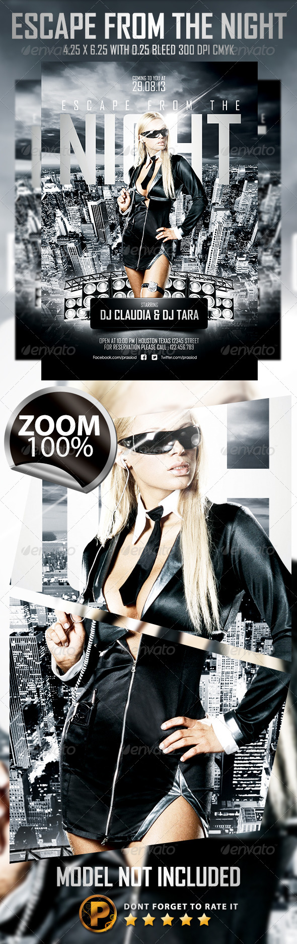 Escape From The Night Flyer Template - Clubs & Parties Events