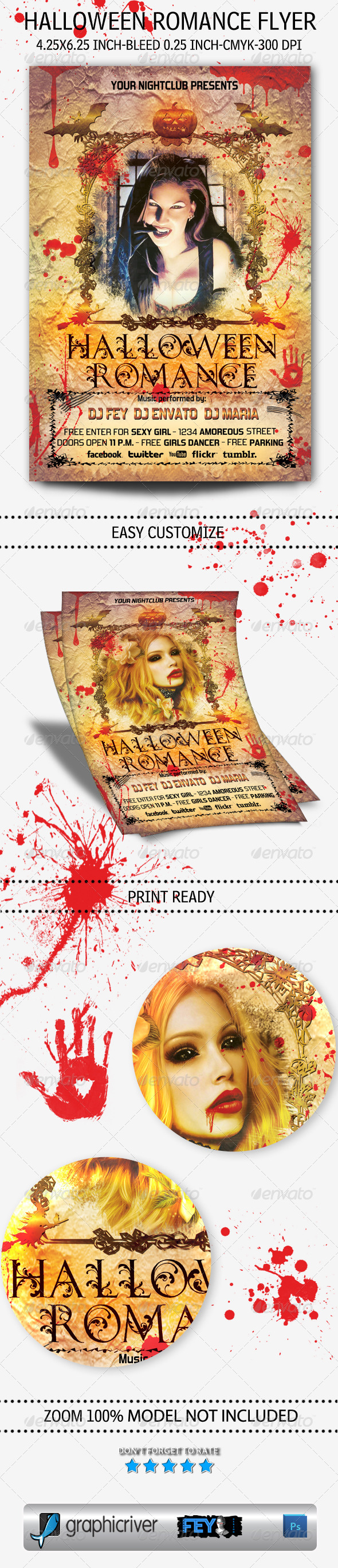 Halloween Romance Flyer