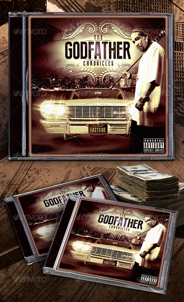 Godfather Chronicles Mixtape / CD Template - CD & DVD Artwork Print Templates