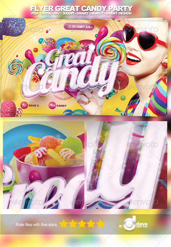 Flyer Candy Party - Clubs & Parties Events