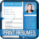 4 Colorful Textured Print Resumes - GraphicRiver Item for Sale