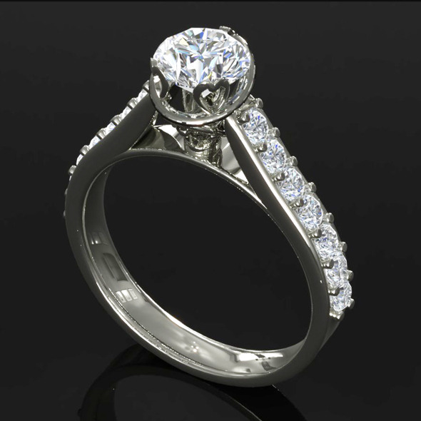 CK Diamond Ring 001 - 3DOcean Item for Sale