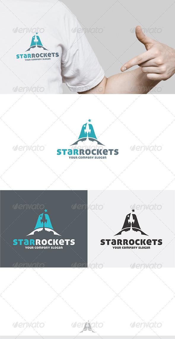 Star Rockets Logo - Letters Logo Templates