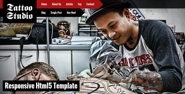 Tattoo Studio – Responsive HTML5 Template