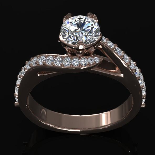 CK Diamond Ring 005 - 3DOcean Item for Sale