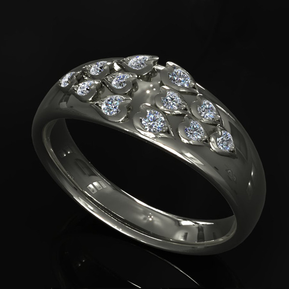 CK Diamond Ring 008 - 3DOcean Item for Sale