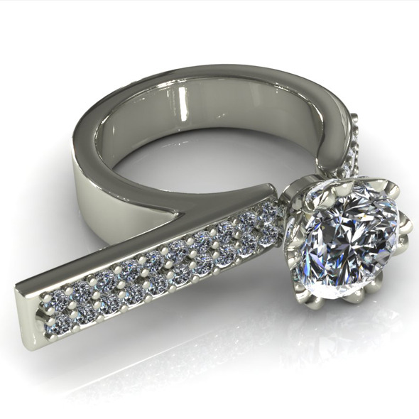 CK Diamond Ring 010 - 3DOcean Item for Sale