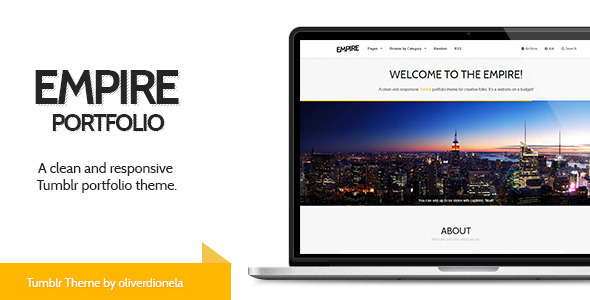 Empire – Responsive Tumblr Portfolio Theme