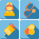 Flat Medical Icon Set - GraphicRiver Item for Sale