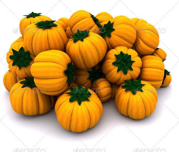 Pile of Pumkins - 3D Backgrounds