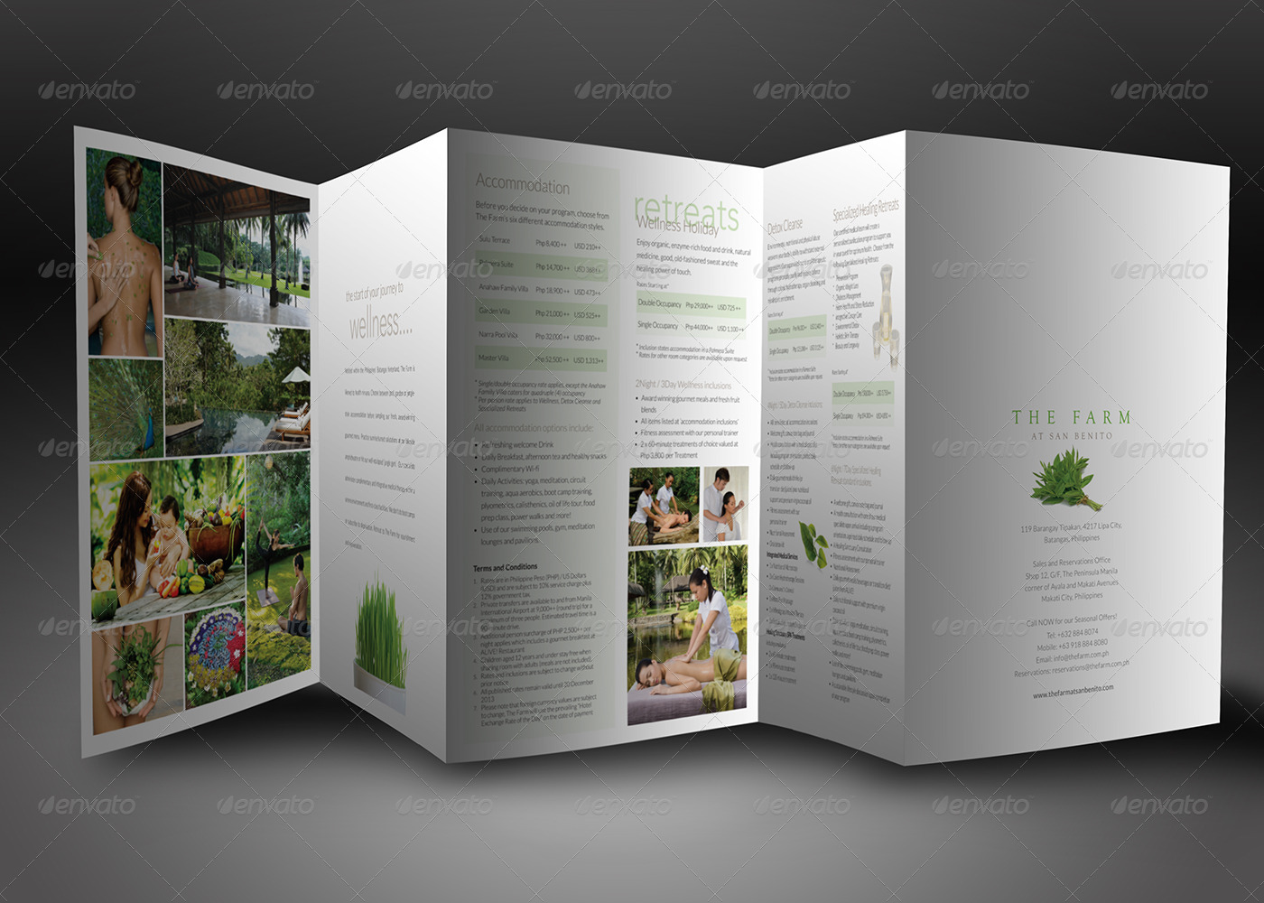 Elegant Accordion Style Brochure Mock Up by ina717   GraphicRiver