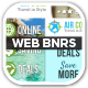 Online Booking Travel Web Banner - GraphicRiver Item for Sale