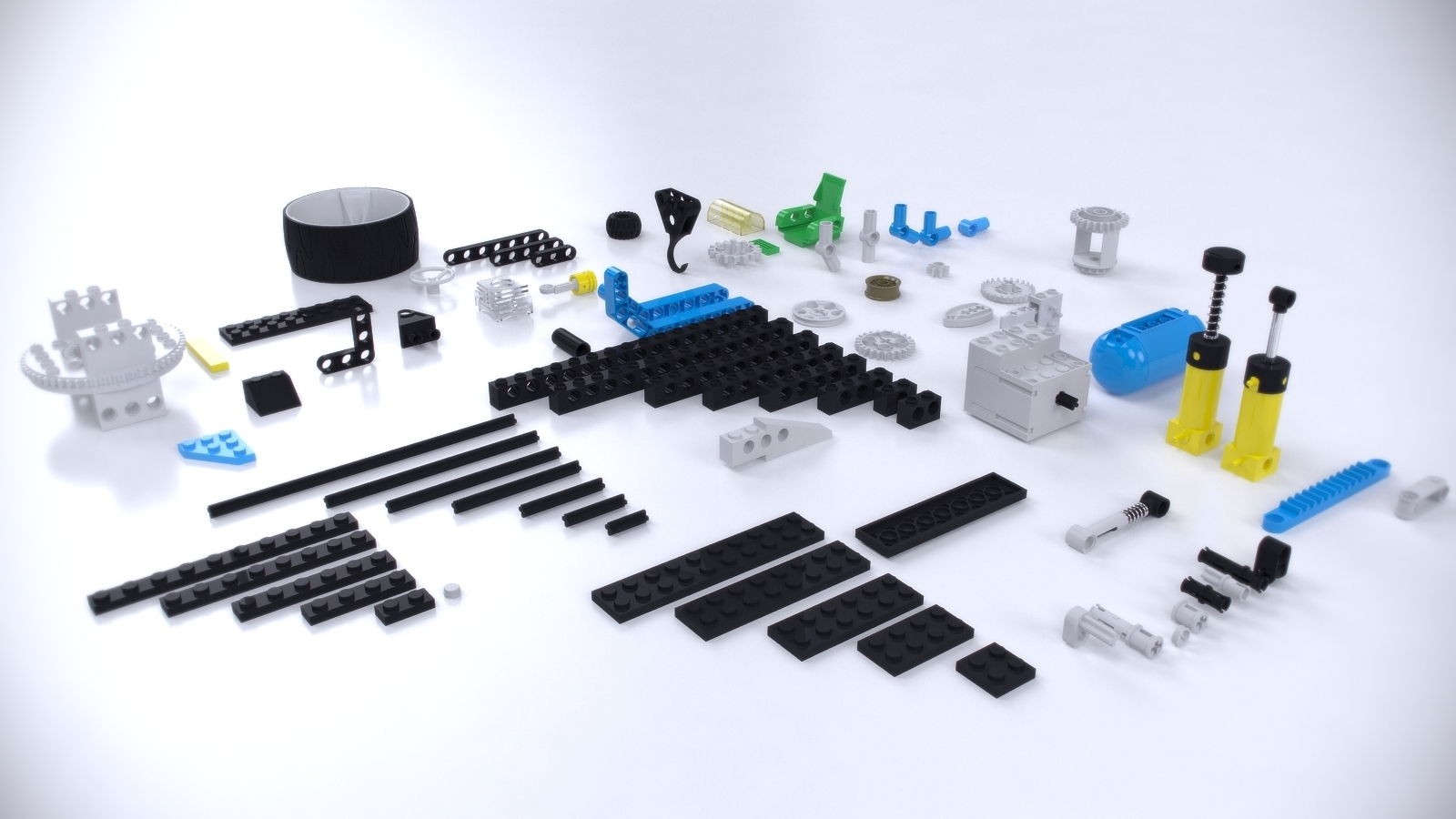 lego technic pieces by alexcom 3docean. Black Bedroom Furniture Sets. Home Design Ideas
