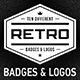 10 Retro Badges & Logos Vol.1