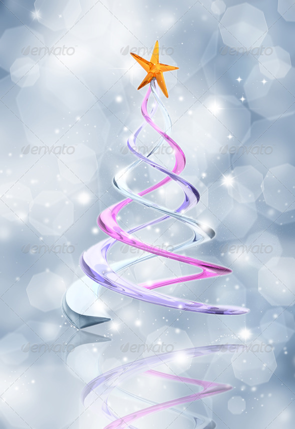 Abstract Christmas Tree Background - Backgrounds Graphics