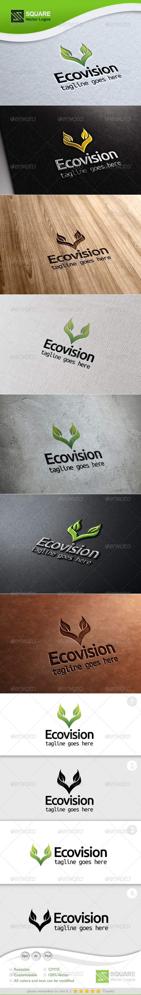 V Letter Leafs Vector Logo Template - Nature Logo Templates