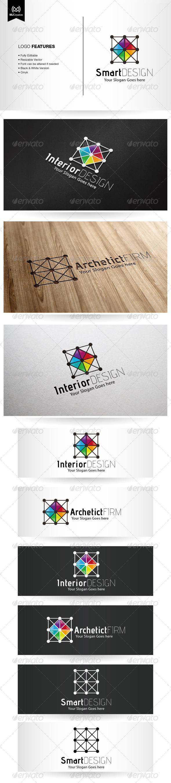 Interior design logo vector - Architecture And Interior Design Logo Vector Abstract