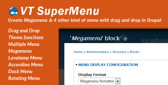 VT Supermenu - Drupal 7 Megamenu - CodeCanyon Item for Sale