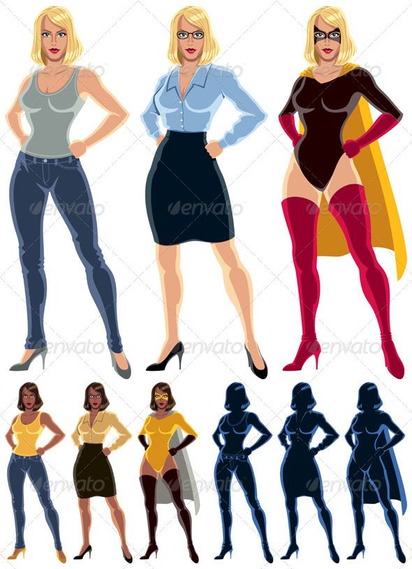 Superheroine Transformation - People Characters