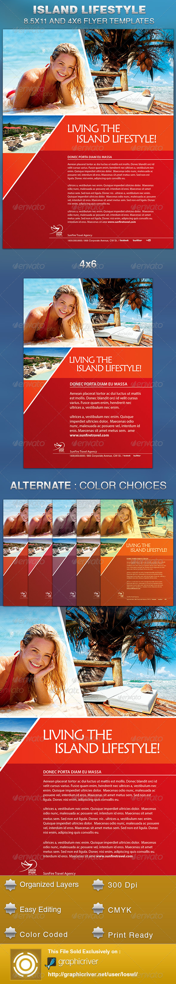 Island Lifestyle Vacation Flyer Template by loswl | GraphicRiver