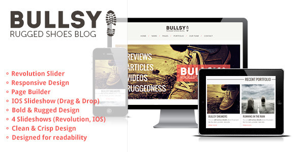 Bullsy – A Rugged & Bold Responsive Blog Theme