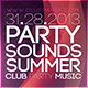 Party Sound Summer Flyer - GraphicRiver Item for Sale