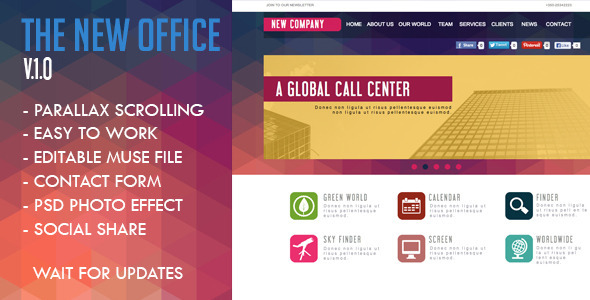 The New Office Muse Template - Corporate Muse Templates