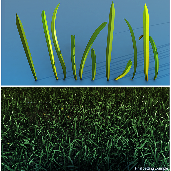 Grass 3D Model - 3DOcean Item for Sale