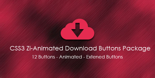 CSS3 Zi-Animated Download Buttons Package - CodeCanyon Item for Sale