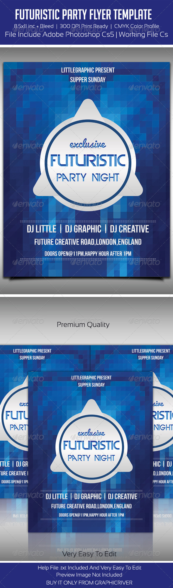Future Flyer Template 3 - Clubs & Parties Events