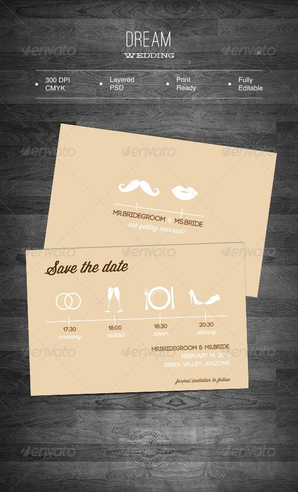 Dream Wedding  - Weddings Cards & Invites