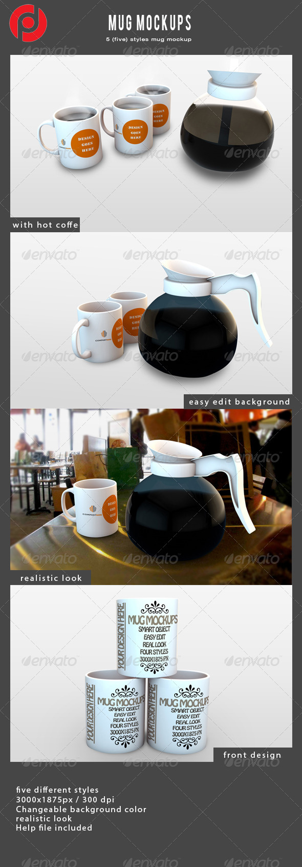 Mug Mock-Ups - Food and Drink Packaging