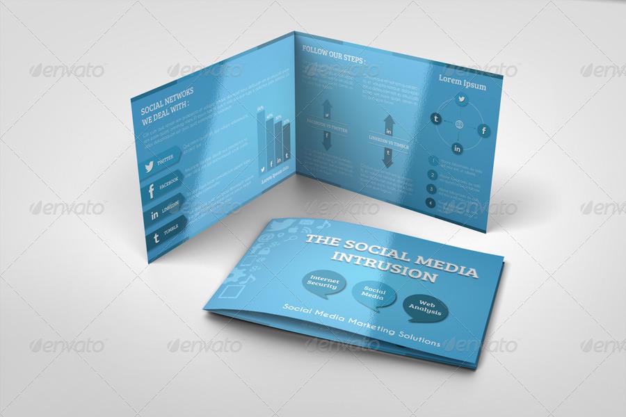 Social Media Bi Fold Brochure Template By Idesignstudionet