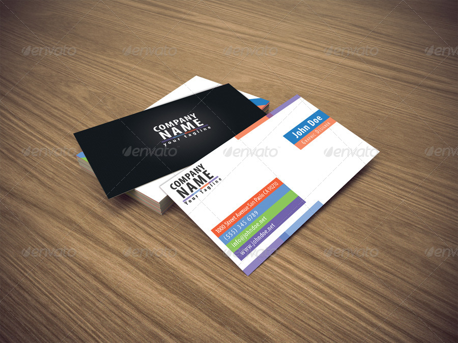 Clean Color Business Card by giantdesign | GraphicRiver