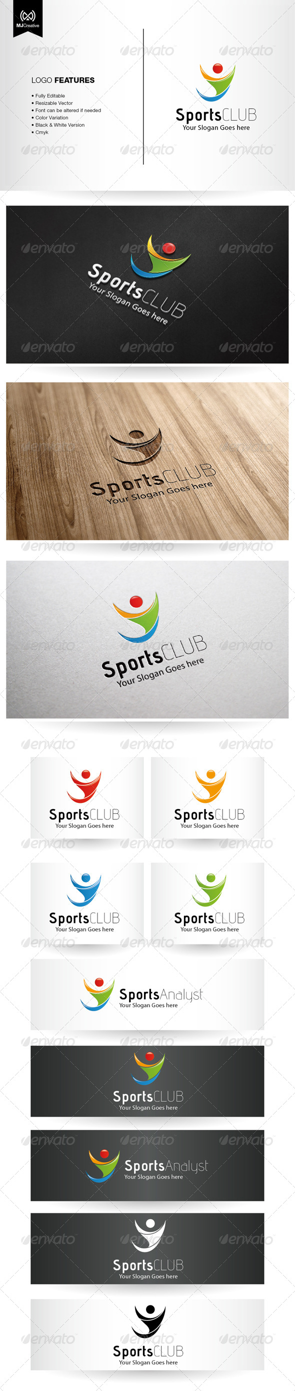 Abstract Human and Sport Logo - Vector Abstract