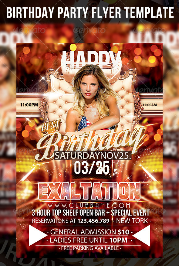 Birthday party flyer template by cerceicer graphicriver birthday party flyer template clubs parties events maxwellsz