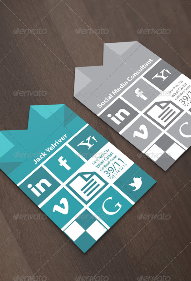 Social Media Consultant Business Card by Micrographer | GraphicRiver