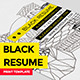 Black Elegant Resume Booklet - GraphicRiver Item for Sale