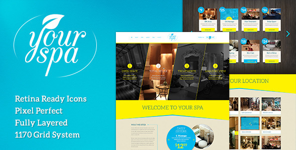 Your Spa – Health/Beauty One Page PSD Template