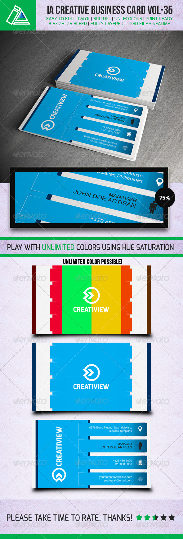 IntenseArtisan BUSINESS CARD VOL.35 - Creative Business Cards