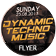 Dynamic Techno Music Party Flyer - GraphicRiver Item for Sale