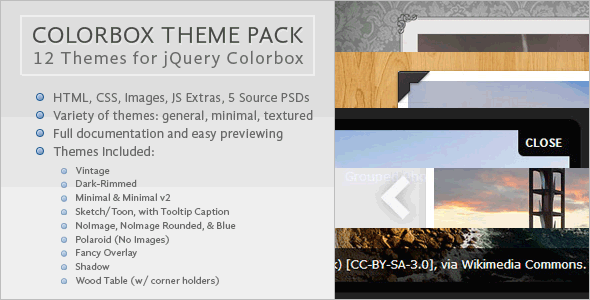 Colorbox Theme Pack - CodeCanyon Item for Sale