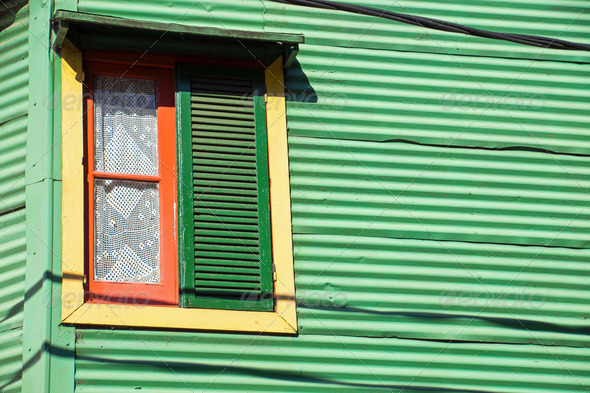 Window in La Boca, Buenos Aires - Stock Photo - Images