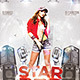 Flyer Star Music Pop - GraphicRiver Item for Sale