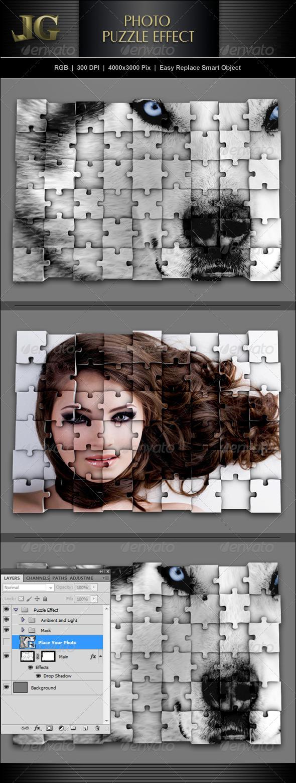 Photo Puzzle Effect - Miscellaneous Photo Templates