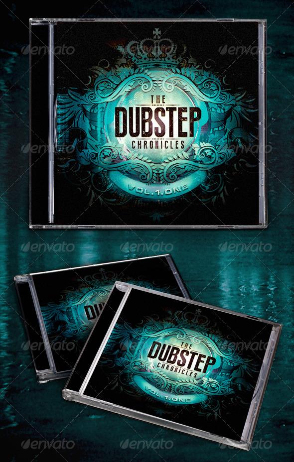 The Dubstep Chronicles CD Template - CD & DVD Artwork Print Templates