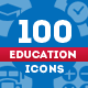 100 Education Icons - GraphicRiver Item for Sale
