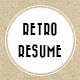 Retro Resume - GraphicRiver Item for Sale