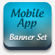 Mobile App Banner ad Set - GraphicRiver Item for Sale