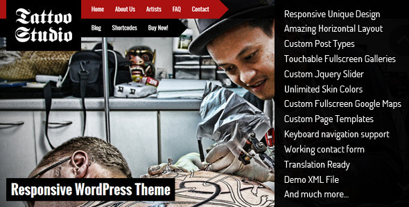 Tattoo Studio – Responsive WordPress Theme